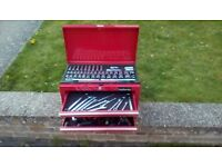 Halfords tool box and rachet set
