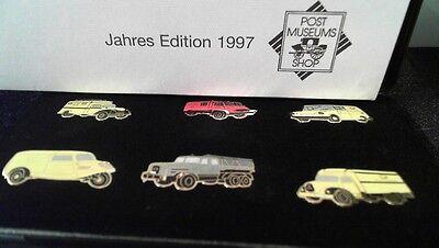 Post Museum Pin Edition 1997 Magirus Deutz uvm in Etui 6 Stück limited