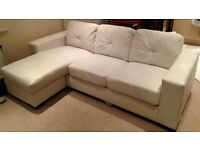 Leather 3 Seater Corner Sofa For Sale