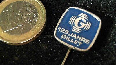 Gillet 125 Jahre Anstecknadel kein Pin Badge Logo Emblem
