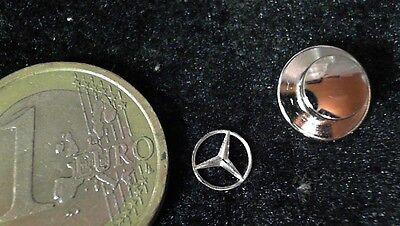 Mercedes Benz Logo Pin Stern Emblem extrem klein mini 6mm cut out  rare silber