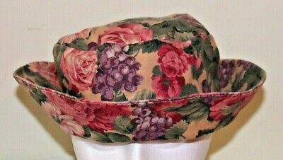 - Women's Colorful Floral Print Hat Ladies Summer Sun Bucket Cap Custom Made USA