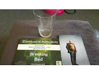 Breaking bad screen used whiskey glass Hank Schrader