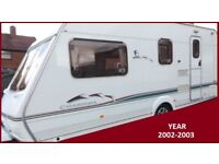 Swift 4 Berth Luxury Family Touring Caravan Ace Sterling Abbey Group BARGAIN