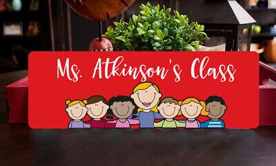 Classroom Gift for Teacher, Teacher Name Sign for Door or Desk, Teacher Gift - Classroom Door Signs