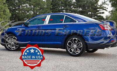 2010-2019 Ford Taurus Chrome 6Pc Pillar Post Trim w/Cutout Trim Stainless Steel
