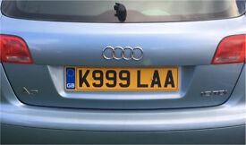 Reg plate k999laa