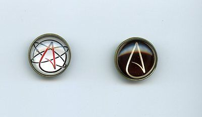 ATHEIST SYMBOL metal PINS ATTRACTIVE style atheist logo brooch ATHEISM MOVEMENT