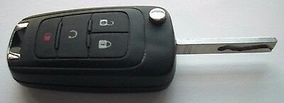 Chevy Keyless Entry Remote 4 Button Flip Fob Key FCC: KR55WK50073 / PN: 13575177