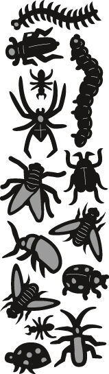 Marianne Design CRAFTABLES Cutting & Embos Punch Die SPIDERS & BUGS CR1383