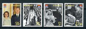 Kiribati-2007-MNH-Diamond-Wedding-Queen-Elizabeth-II-Prince-Philip-4v-Set-Stamps