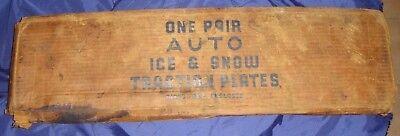 BG370 Vtg Auto Automobile Car Truck Ice & Snow Traction Plates NOS
