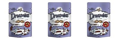 3x Dreamies Cat Treats - Delectable Duck (3 x 60g Packs) With Vitamins Minerals