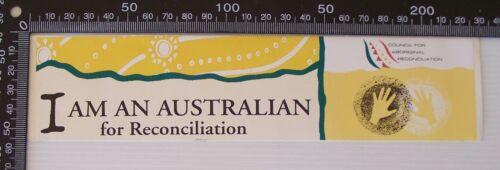 VINTAGE COUNCIL FOR ABORIGINAL RECONCILIATION AUSTRALIA VINYL PROMO STICKER