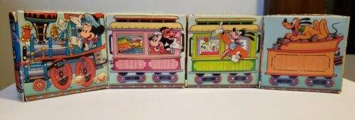 Avon Vintage 1990 Set of 4/5 Mickey and Friends Soap Train