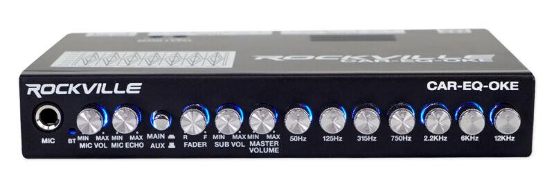 Rockville CAR-EQ-OKE Car Audio 7 Band Equalizer w Bluetooth + Mic Input Karaoke