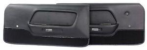 Mustang Door Panels Deluxe Pair  1970 Black
