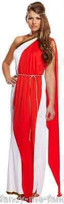 Mujer Largo Sexy Romano Mujer Toga Disfraz De Diosa Griega Traje 8-12