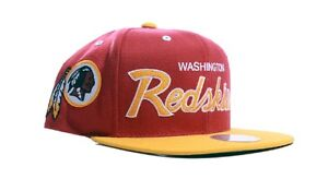 NFL Washington Redskins Mitchell and Ness Script Adjustable Snapback Hat Cap M&N