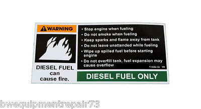 Lincoln Oem Diesel Fuel Only Decal Sticker T13086-26 5 12 X 2 14 Bw1270