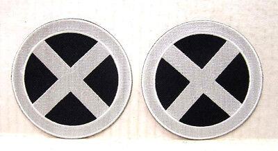 X-Men Phoenix Silber / Schwarz X cm Logo Kostüm Schulter Patch Set 2 - Phoenix Kostüm X Men