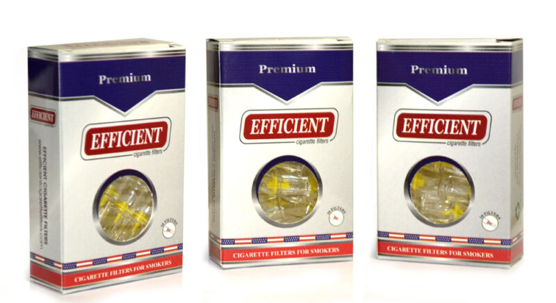 3 Packs EFFICIENT Cigarette Filters (90 Filters) Block & Filter Out Tar & Nic