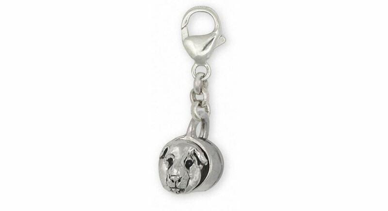 Guinea Pig Zipper Pull Jewelry Sterling Silver Handmade Piggie Zipper Pull GP12-