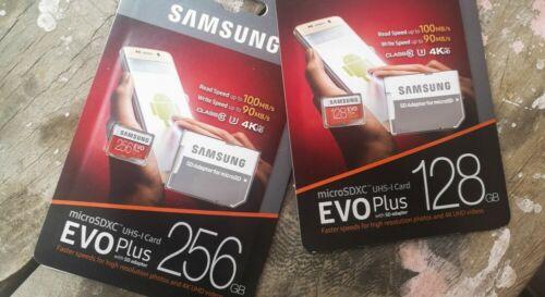 SAMSUNG EVO Plus Micro SD 128,256GB Class10 U3 Flash Memory Card w/SD Adapter
