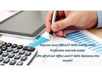Courses: Office and IT Skills courses and Diplomas (10 % off for this month)