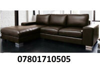 SOFA JANUARY SALE LAST FEW DAYS ITALIAN NERO LEATHER CORNER SOFA BLACK OR BROWN 80