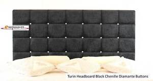 Turin-Chenille-Headboard-All-Sizes-Colours-Diamante-Buttons-ESUPASAVER-SALE
