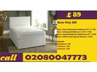 Same Day Delivery Double Divan bed Base in black Color In London