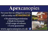 Made to measure garden canopies & Carports - Fully Installed - 25% Off