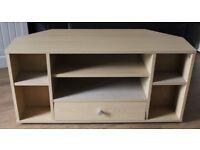 TV corner stand – Beech effect
