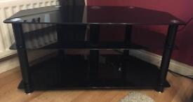 Sona Av42 black glass tv stand