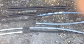 11 sections of drain rods.