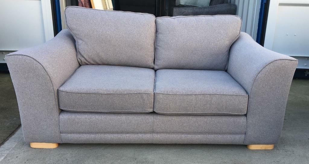 Grey Fabric 2 Seater Sofa (New Ex Display)