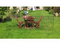 Double wrought Iron gates, 9ft 6'' total width, good solid condition