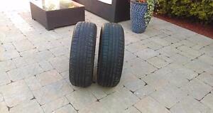 2 pneu d été  215/55r17 michelin primacy mxv4 93v  bon pour 3 été 8/32