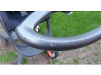 Used Second Hand Stokke Pushchair - Hand Bar That Goes Across The High Chair Not Included