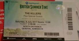 The killers british summer time hyde park ticket