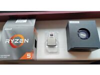 Ryzen 3600 CPU + Wraith Stealth cooler. As new!
