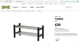 IKEA - 2x Shoe rack TJUSIG - Black