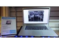 "Macbook Pro 15"" Core 2 Duo 500GB 8GB Silver Apple laptop computer OSX El Capitain 2016 Ayrshire"