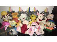 Soft Toys Job Lot Ex Arcade Stock Paw Patrol, Winnie Pooh, Piglet, Sesame Street