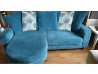 Gorgeous Sofa with footstool