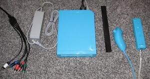 LIMITED EDITION BLUE NINTENDO WII SYSTEM