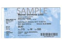Marvel Universe Live - 3 tickets - Sheffield Arena - 21 January 2017 at 15:00