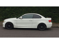 2011 BMW 1 SERIES COUPE 118d SPORT WHITE. FULL LEATHER INTERIOR + WARRANTY