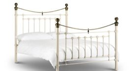 single bed with mattress and protector